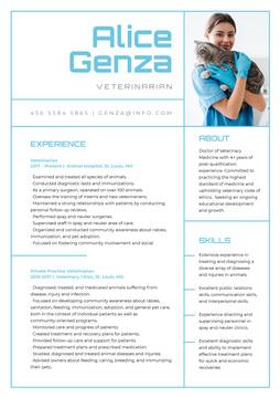 Veterinarian skills and experience on Medicine
