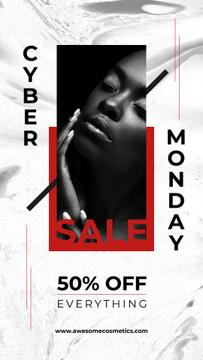 Cyber Monday Offer Young Beautiful Woman