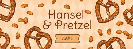 Template di design Delicious baked Pretzels Facebook cover
