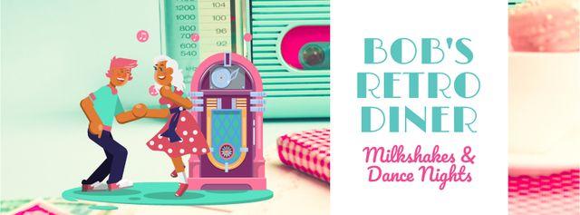 Modèle de visuel People dancing by jukebox  - Facebook Video cover
