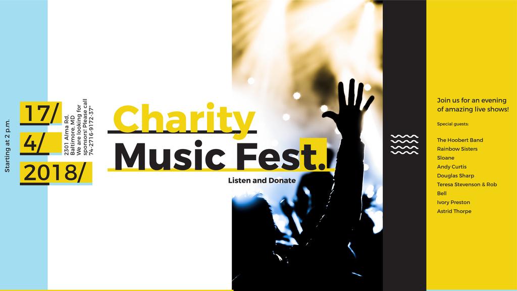 Music Fest Invitation Crowd at Concert — Создать дизайн
