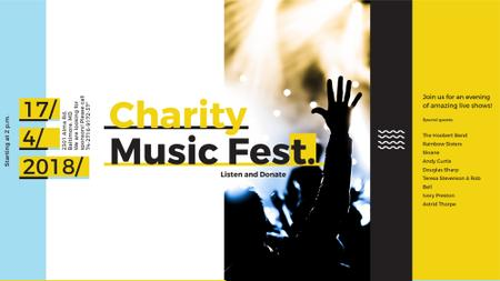 Plantilla de diseño de Music Fest Invitation Crowd at Concert FB event cover