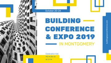 Building Conference announcement Modern Building Facade