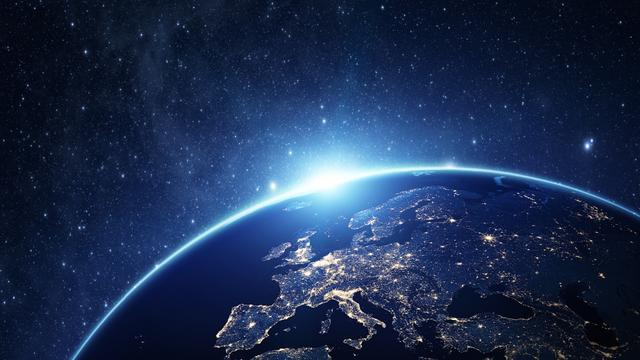 Earth Planet View from Space Zoom Background – шаблон для дизайну
