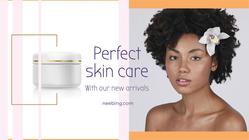 Skincare Ad Woman with Nude Face and Flower | Full HD Video Template — Crea un design
