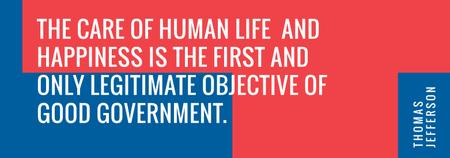 Modèle de visuel Government Quote on blue and red - Tumblr