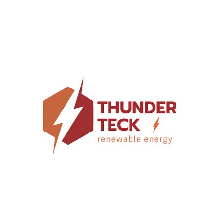 Template di design Renewable Energy with Lightning Icon Animated Logo
