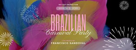 Plantilla de diseño de Colorful feathers decoration for Brazilian Party Facebook Video cover
