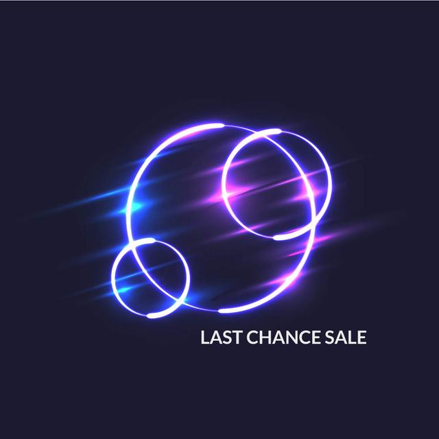 Plantilla de diseño de Flickering neon lights circles Animated Post