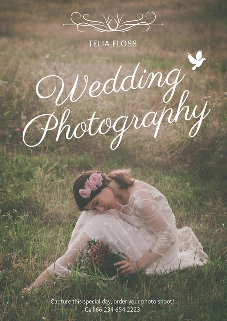 Plantilla de diseño de Wedding photography advertisement Poster