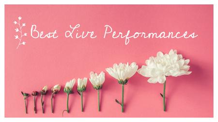 Event Invitation White Chrysanthemums on Pink Youtube Thumbnail Modelo de Design