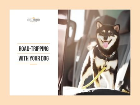 Designvorlage Road tripping with dog für Presentation