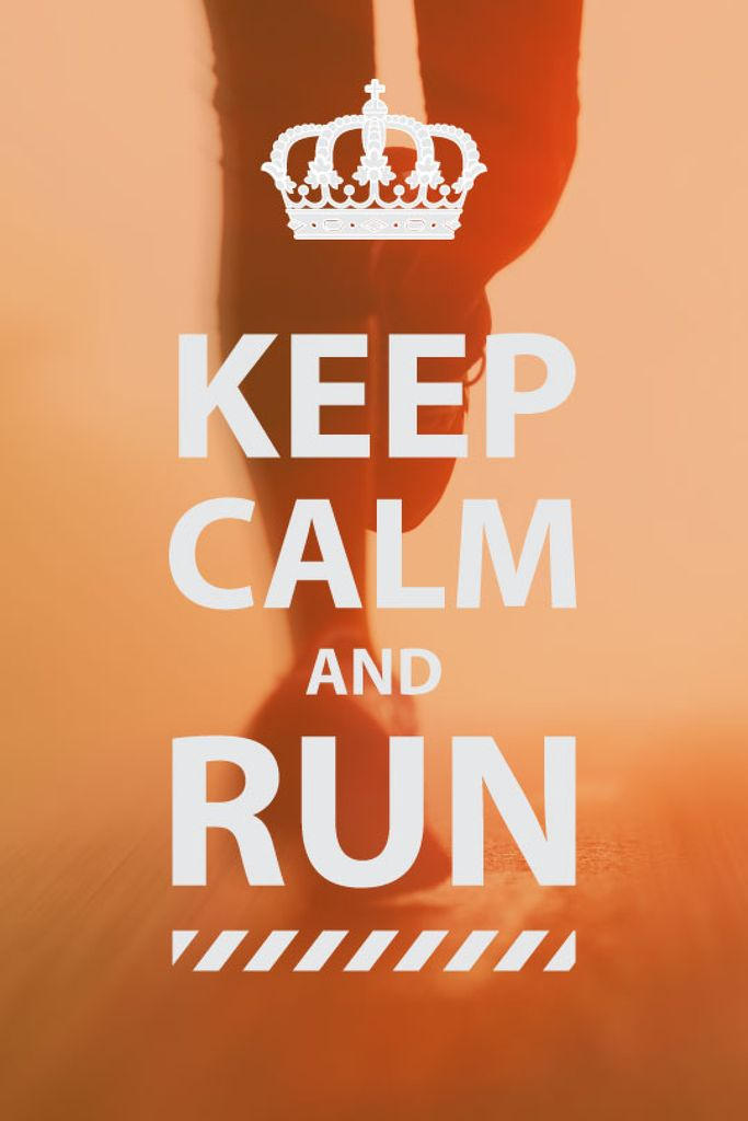 keep calm and run poster — Créer un visuel