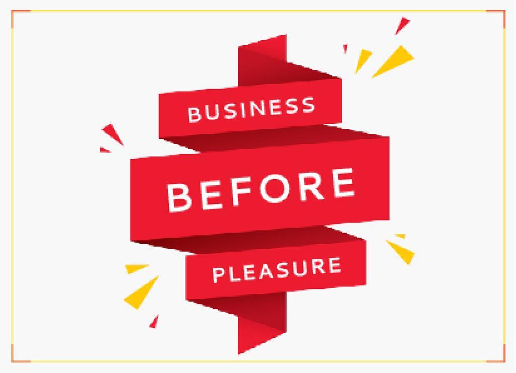 Business before pleasure — ein Design erstellen