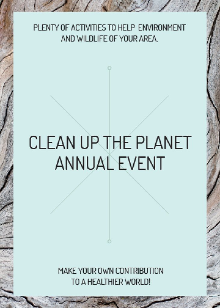 Clean up the Planet Annual event — Створити дизайн
