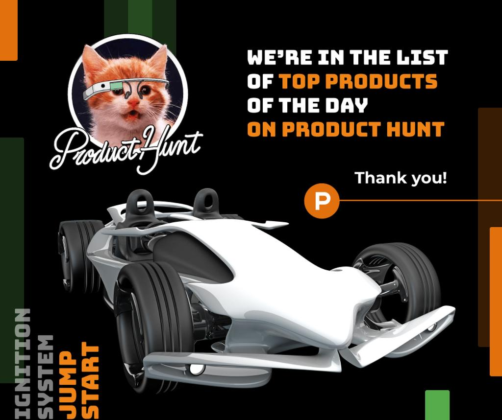 Product Hunt Launch Ad Sports Car — Create a Design