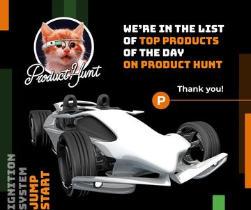 Product Hunt Launch Ad Sports Car | Facebook Post Template | Facebook Post Template