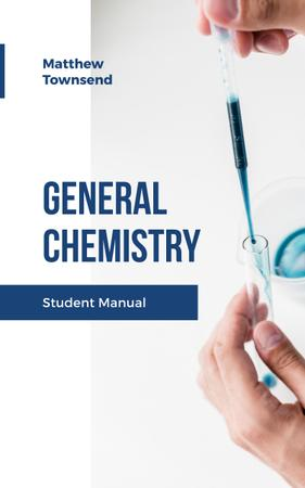 Chemistry Manual Scientist Working with Test Tube Book Cover – шаблон для дизайна