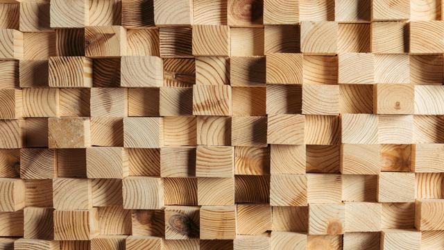 Plantilla de diseño de Small wooden Cubes Zoom Background