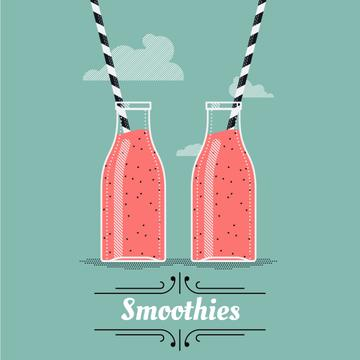 Pouring and Drinking Pink Drinks in Bottles | Square Video Template
