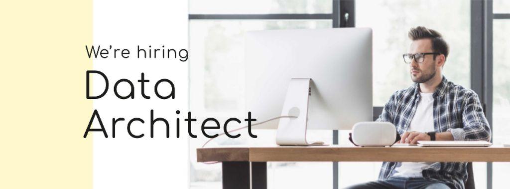 Job Offer with Coder working on Computer — Maak een ontwerp
