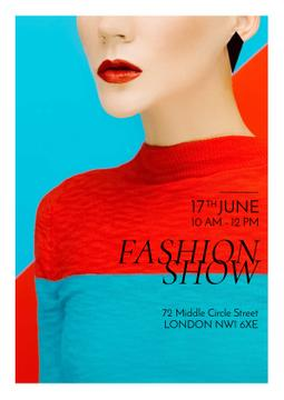 Fashion show Advertisement with Stylish Woman
