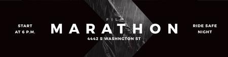 Plantilla de diseño de Film Marathon Ad Twitter