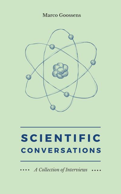 Plantilla de diseño de Atom model sketch Book Cover