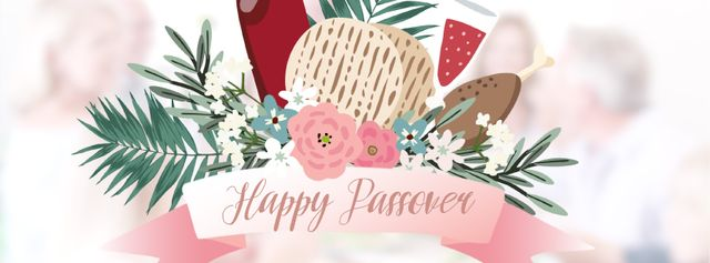 Plantilla de diseño de Happy Passover festive dinner Facebook Video cover