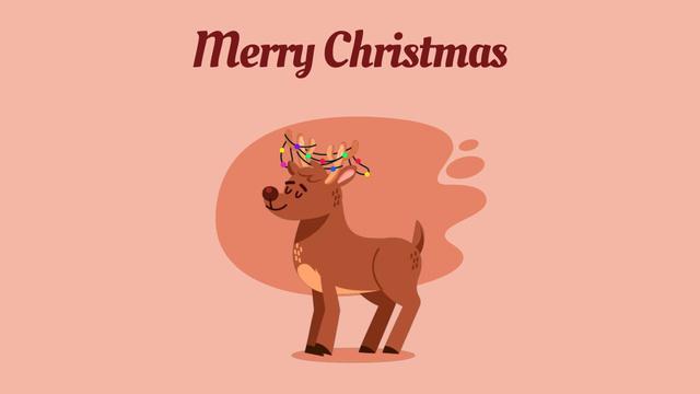 Jumping Christmas deer Full HD video Design Template