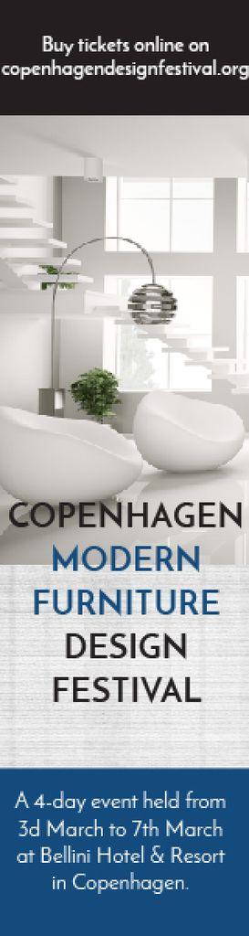Furniture Design Festival Modern White Room | Wide Skyscraper Template — Create a Design