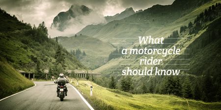 Template di design refresher for motorcycle rider poster Image