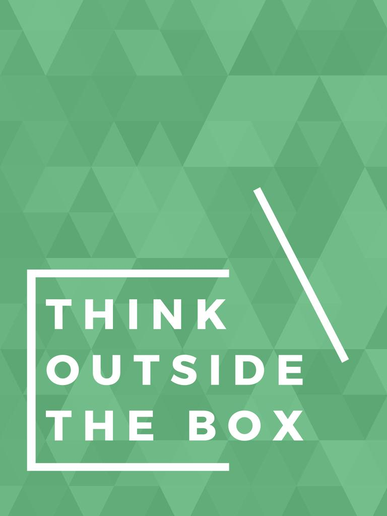 Think outside the box citation — ein Design erstellen