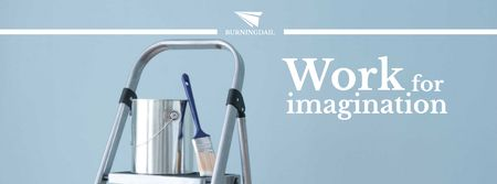 Plantilla de diseño de Tools for Home Renovation in Blue Facebook cover