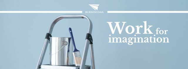 Tools for Home Renovation in Blue Facebook cover Design Template