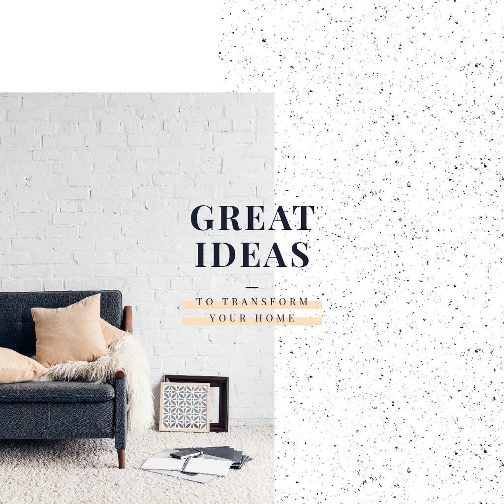 Cozy interior in light colors — Crear un diseño