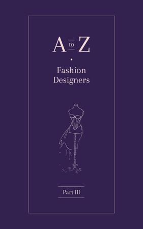 Modèle de visuel Dressmaker Dummy Illustration in Purple - Book Cover