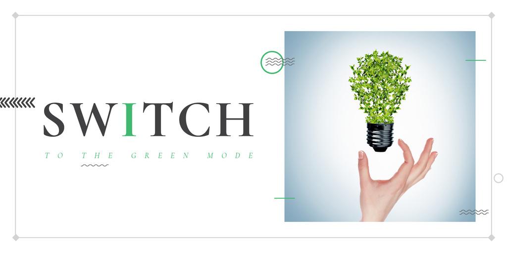Woman holding Plants Light Bulb Image Design Template
