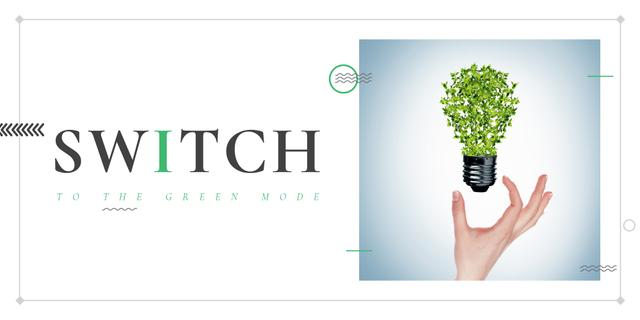 Switch to the green mode poster Image Modelo de Design