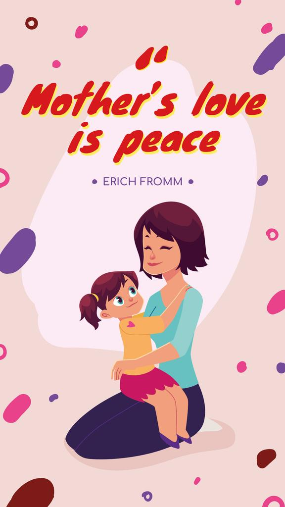 Happy Mother holding Child on Mother's Day — Crear un diseño