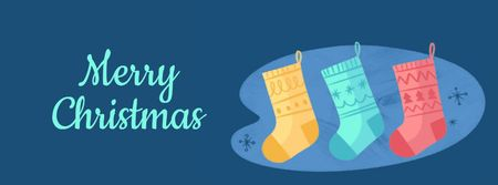 Ontwerpsjabloon van Facebook Video cover van Elves in Christmas socks