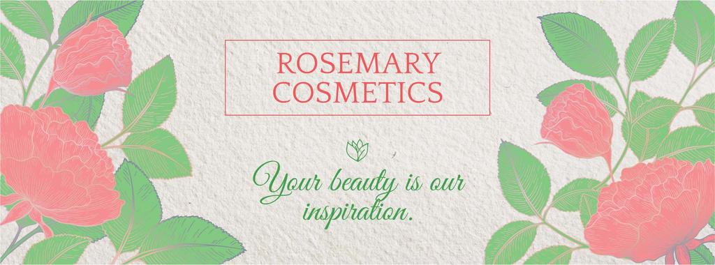 Rosemary cosmetics banner — Modelo de projeto
