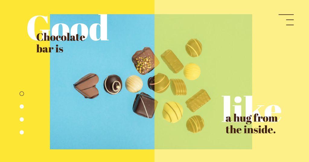 Assorted chocolate sweets — Создать дизайн