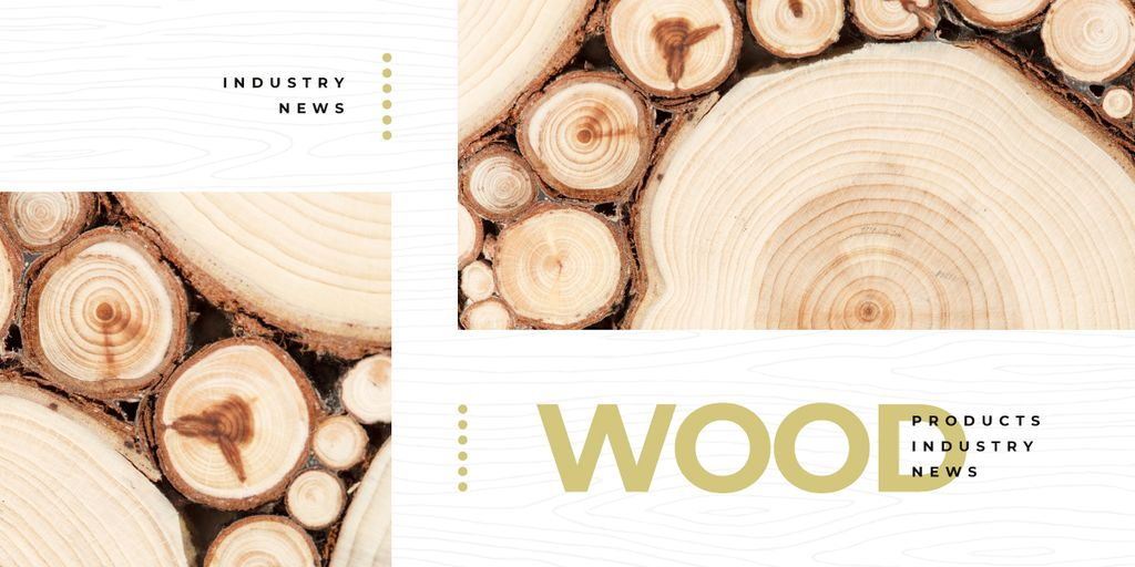 Pile of wooden logs Image Design Template