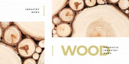 Pile of wooden logs Imageデザインテンプレート