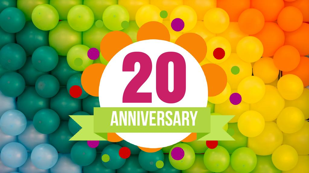 Anniversary celebration template — Створити дизайн