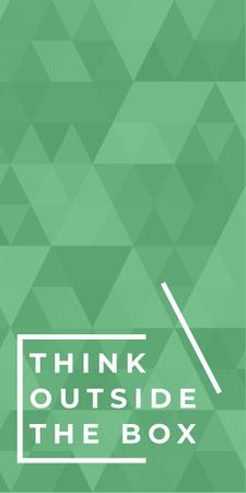Think outside the box quote on green pattern Graphic Modelo de Design