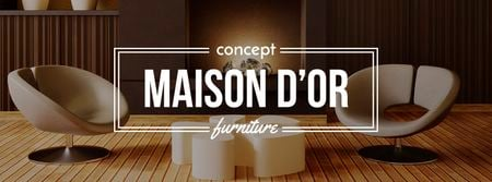Ontwerpsjabloon van Facebook cover van Home decor design with modern furniture