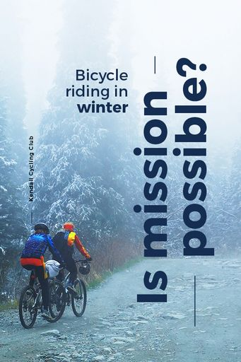 Bicycle Riding In Winter