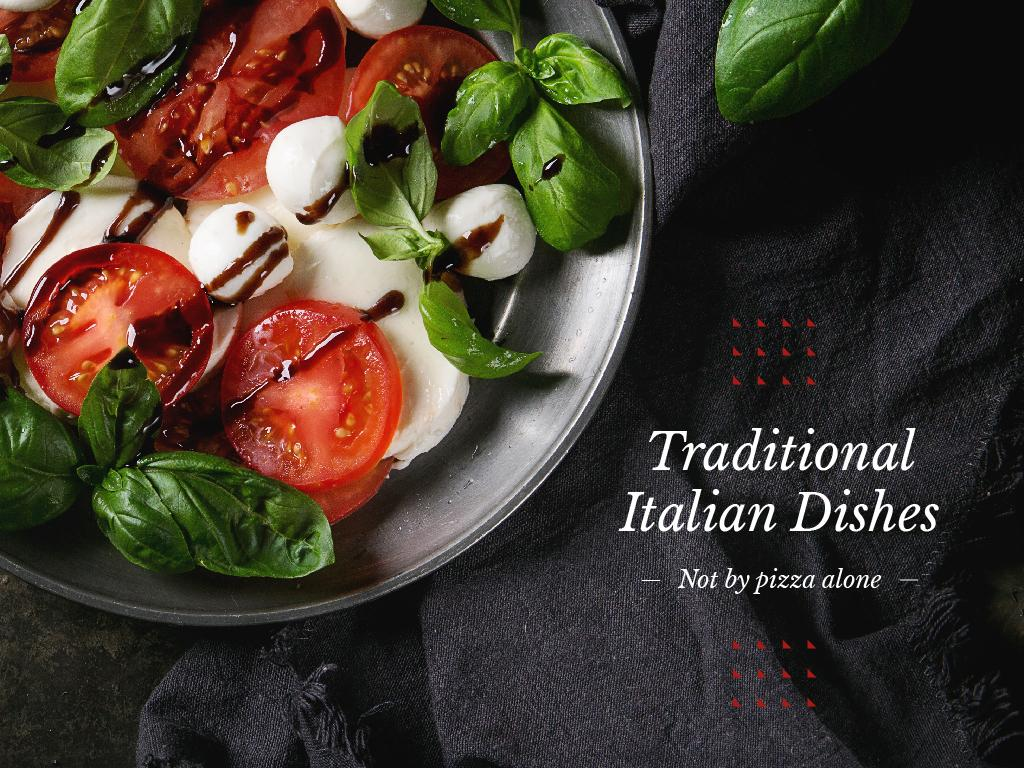Traditional Italian Dishes — ein Design erstellen